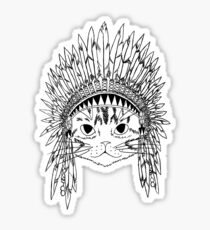 Chief Kitty - Black Sticker