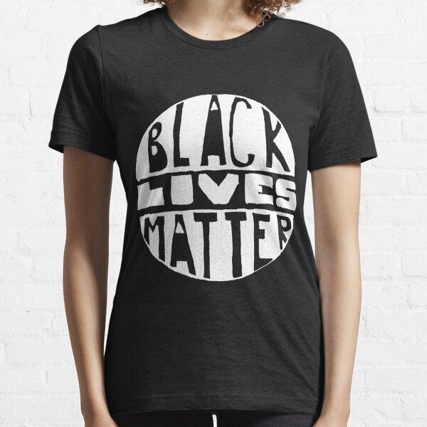Black Lives Matter - Filled Black Background Essential T-Shirt