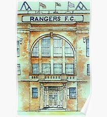 Rangers Fooball Club (Ibrox Entrance) Poster