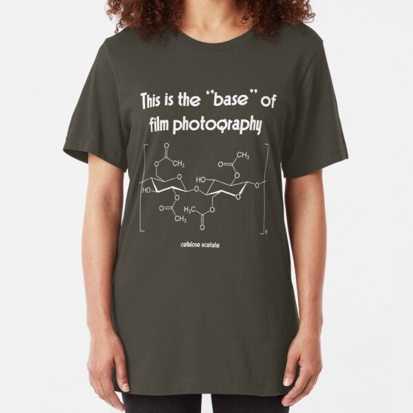 The ''base'' in film photography (white) Slim Fit T-Shirt