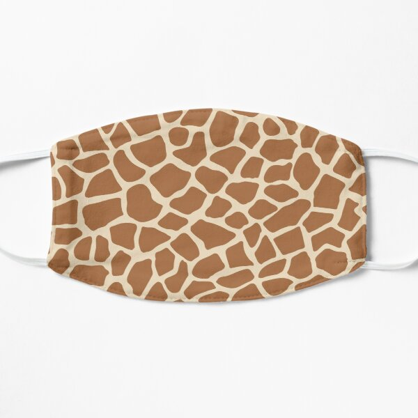 Giraffe Animal Print Flat Mask