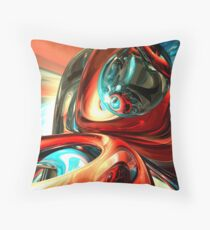 Slippery Abstract Throw Pillow