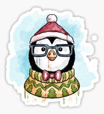 Christmas Penguin Sticker