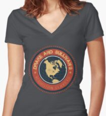 Drake and Sullivan's 2 Women's Fitted V-Neck T-Shirt