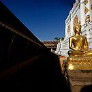 Golden Buddha Wat Chiang Yuen by Duane Bigsby