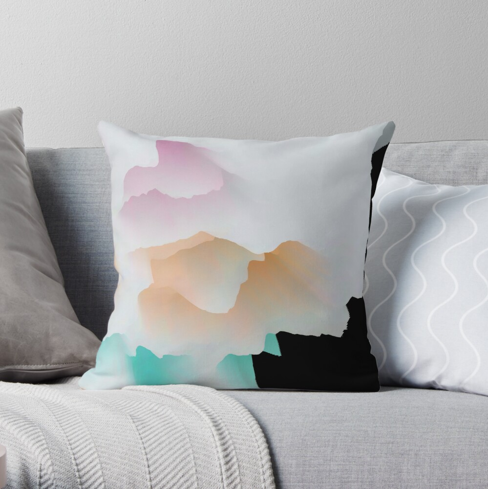 Multicolored unique everlasting pattern. Crystal madness design collection no. 052 Throw Pillow