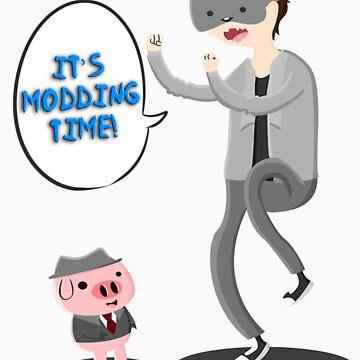 "'It's Modding Time!"" T-shirt/Sticker by SCMowns"
