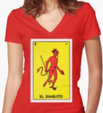 El diablito  Women's Fitted V-Neck T-Shirt