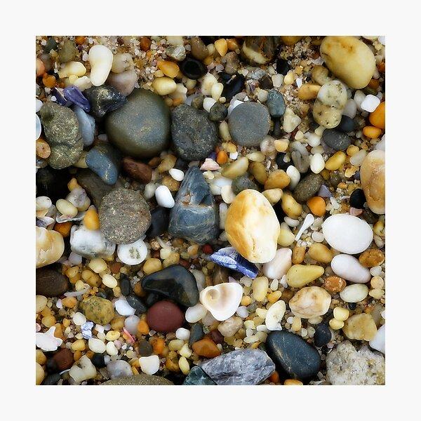 Wet pebbly beach Photographic Print