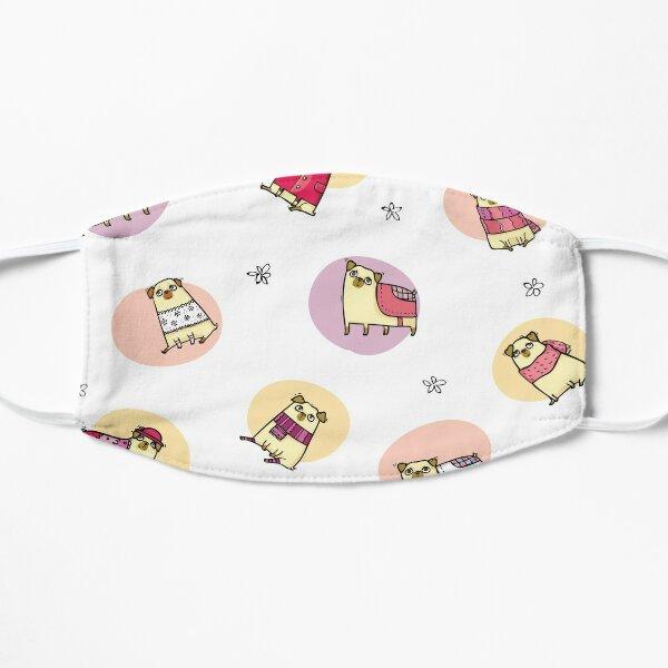 Pattern of Happy Pugs Mask