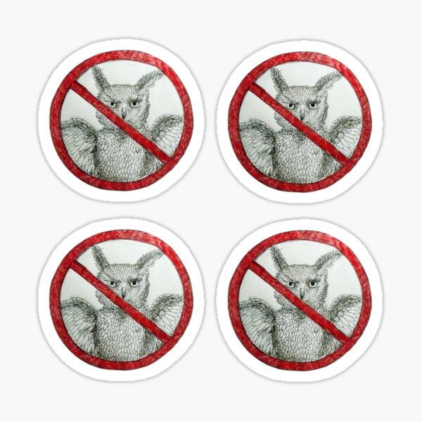 Widerstand gegen die Eulen! Sticker