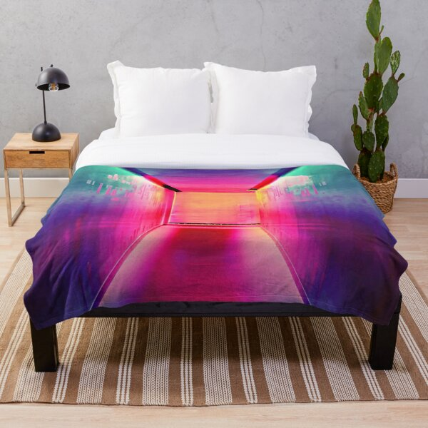 Sparkly Colorful Abstract Disco Design.  Throw Blanket