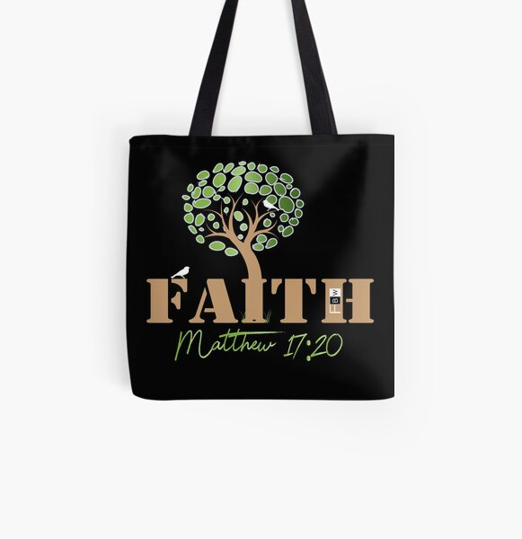 Faith of a Mustard Seed All Over Print Tote Bag