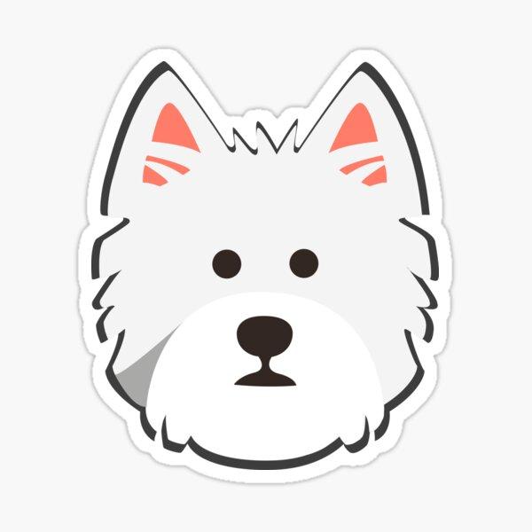 Westie Face Sticker