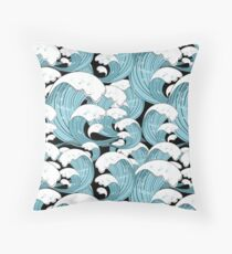 pattern of sea waves Throw Pillow