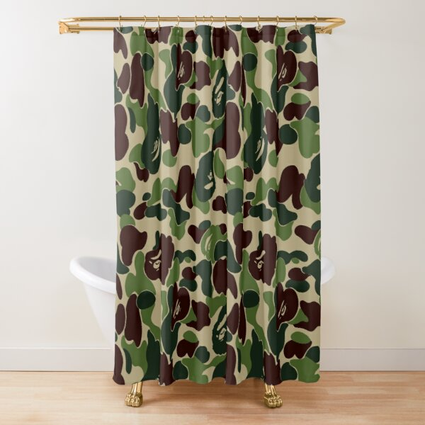 green bape camoflage Shower Curtain