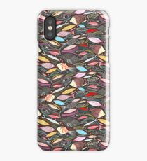 bright autumn pattern of fish and leaves iPhone Case/Skin