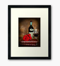 Literary Red Wine Framed Print