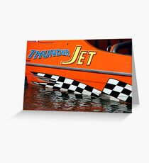 Thunder Jet Greeting Card