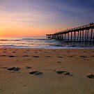 Dawn Footprints, OBX by Michael Treloar