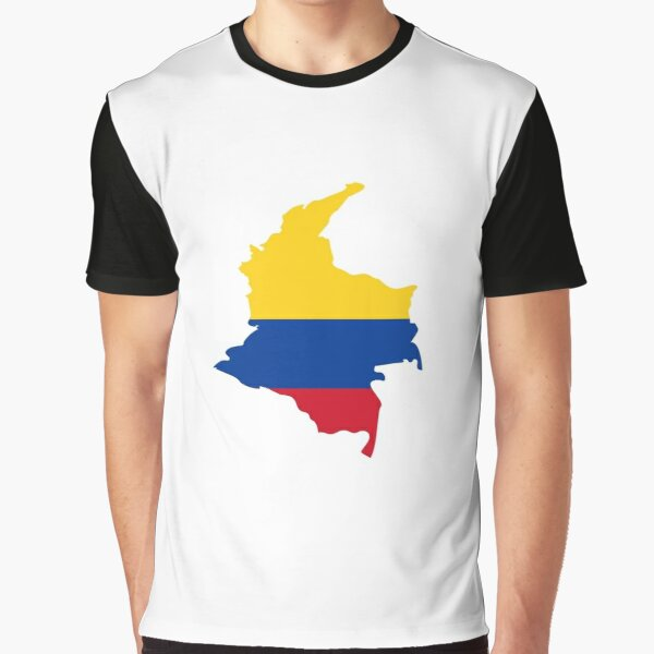 Colombian flag map Graphic T-Shirt