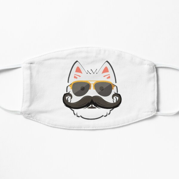 Westie Face with Mustache Mask