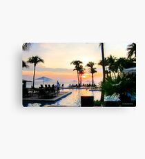 Sunset in Curacao Canvas Print