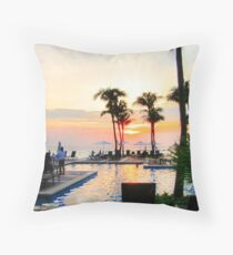 Sunset in Curacao Throw Pillow