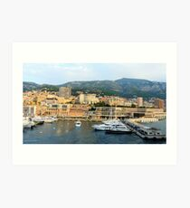 Morning in Monte Carlo Art Print