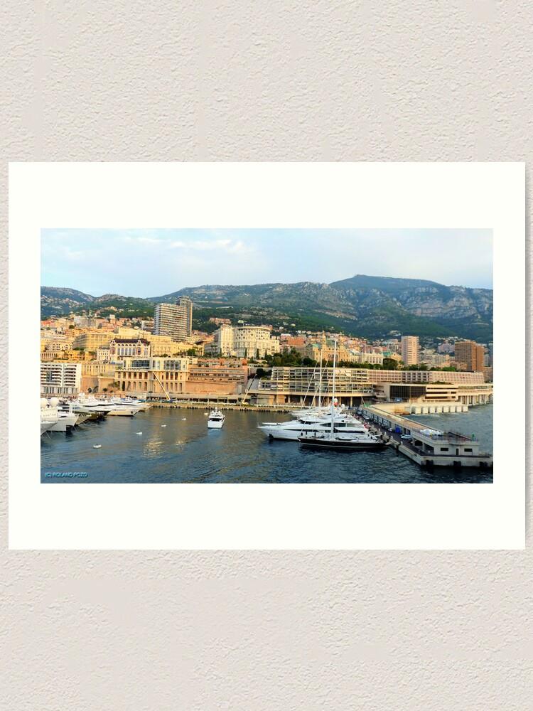 Alternate view of Morning in Monte Carlo Art Print