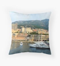 Morning in Monte Carlo Throw Pillow