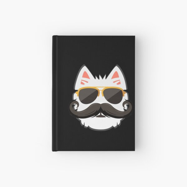 Westie Face with Mustache Hardcover Journal