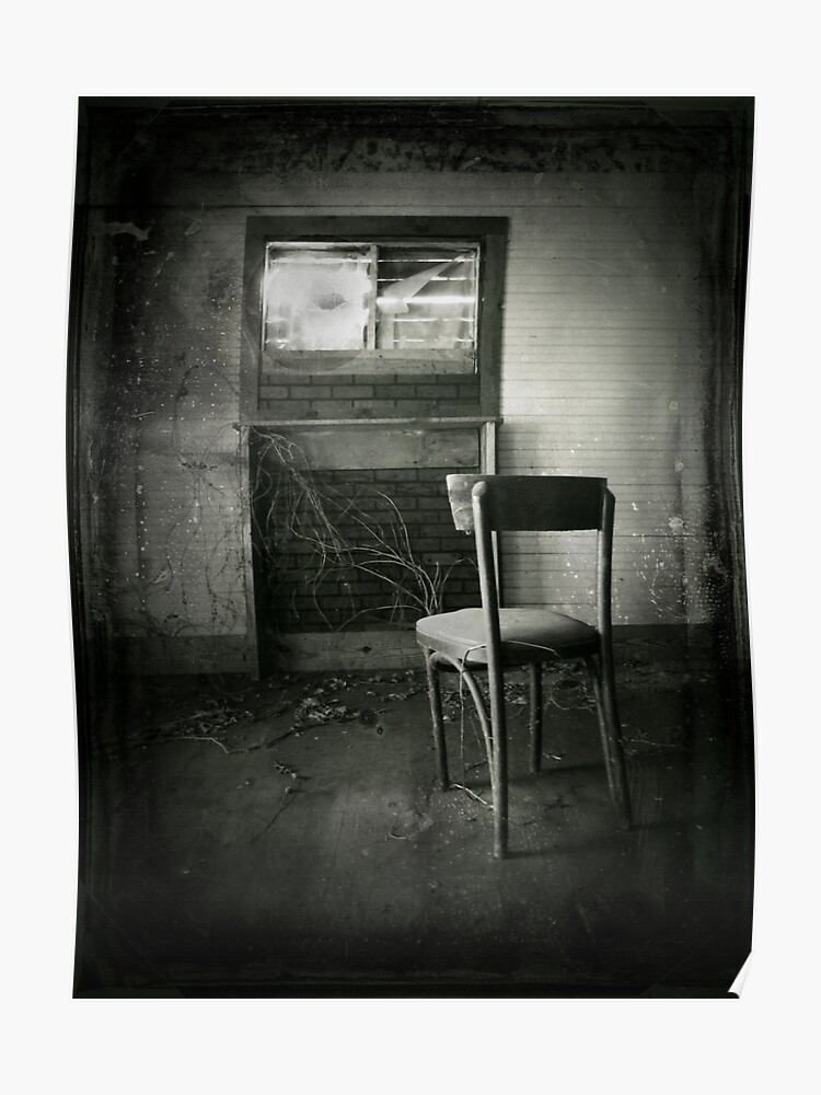Awe Inspiring Abandoned Chair Spooky Creepy Halloween Art Poster Onthecornerstone Fun Painted Chair Ideas Images Onthecornerstoneorg