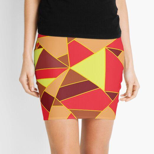 lava texture - fire mosaic Mini Skirt