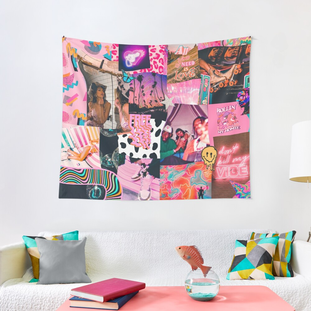 trippy baby collage Tapestry