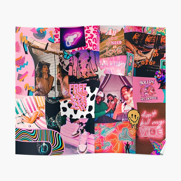 trippy baby collage Poster