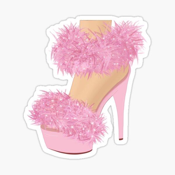 Pink High Heels Sticker