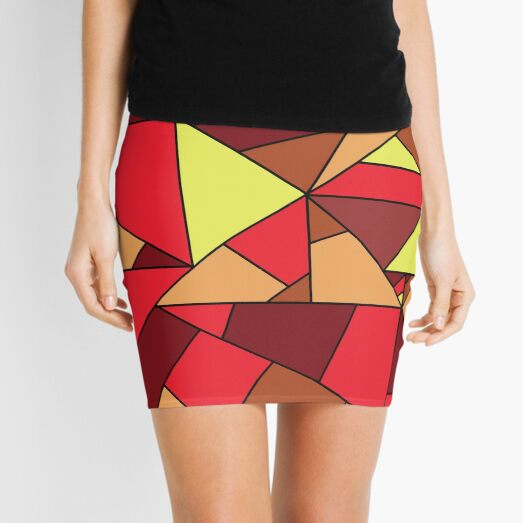 magma texture - fire mosaic Mini Skirt