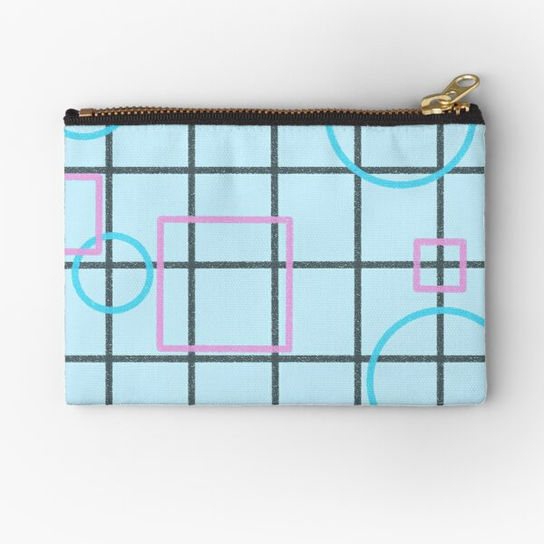 blue shape pattern Zipper Pouch