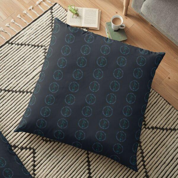 Disgruntled Pelican (Blue) Floor Pillow