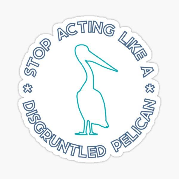 Verärgerter Pelikan (blau) Sticker