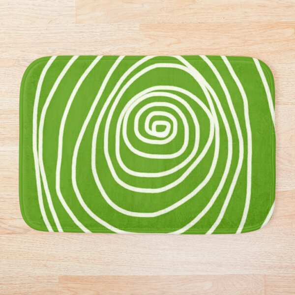 Green Swirl Bath Mat