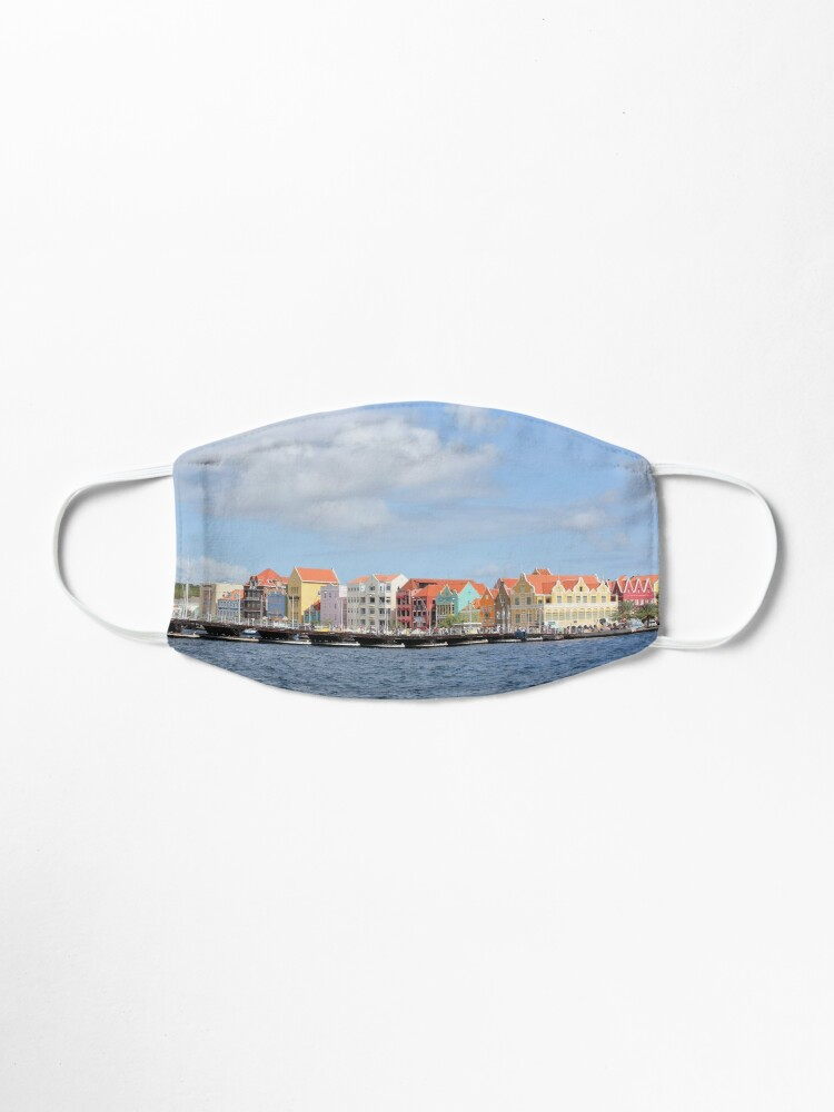 Alternate view of Colorful Houses of Willemstad, Curacao Mask