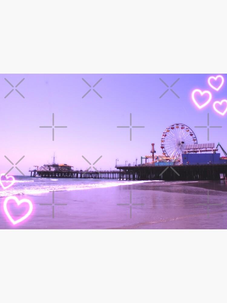 Santa Monica Pier Purple Hearts by stine1