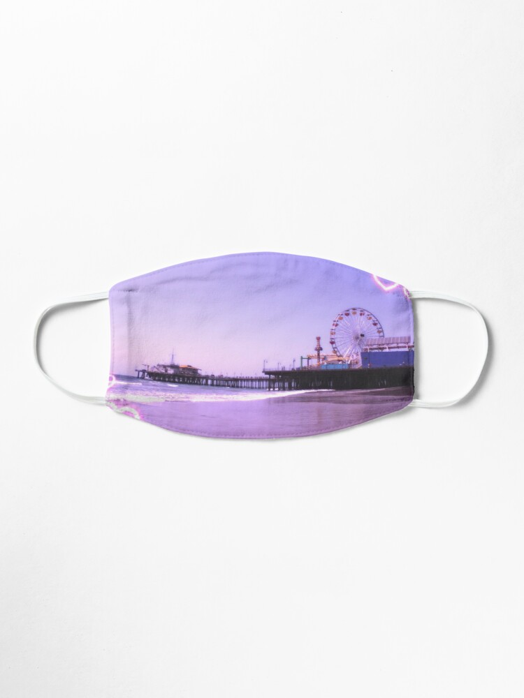 Santa Monica Pier Purple Hearts Mask Designed by stine1