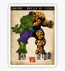 HULK vs LA CHOSE Sticker