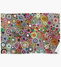 Childhood Dreams - Painted Spirograph Art Poster