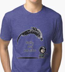 Ripley and the Alien - Black t-shirt Tri-blend T-Shirt