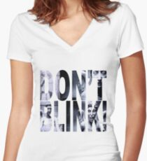 Weeping Angels - Don't Blink!! Women's Fitted V-Neck T-Shirt