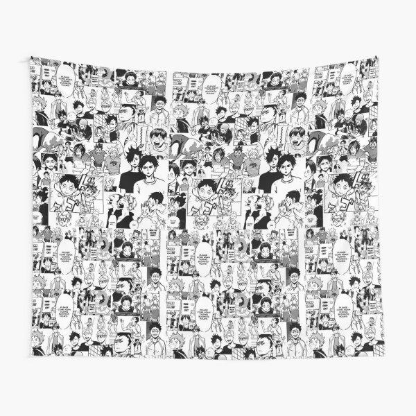 Haikyuu!! - Manga Collage Tapestry